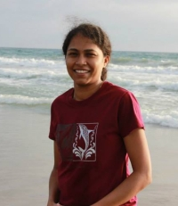 Anusha by the ocean