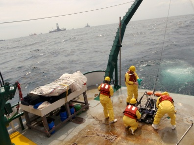 Deploying instruments in the Gulf of Mexico